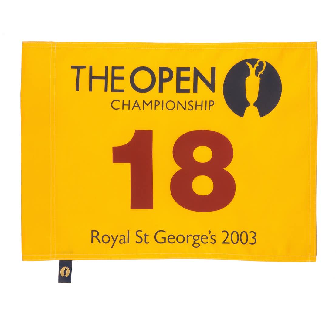 132nd Royal St George's Open Championship Pin Flag - Yellow