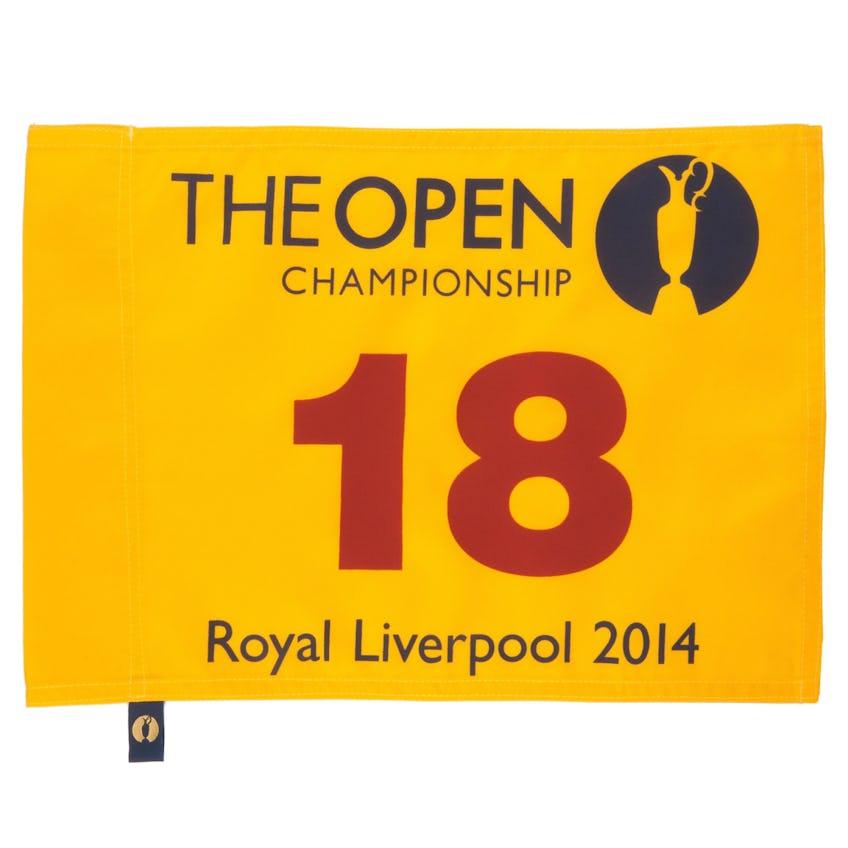 143rd Royal Liverpool Open Pin Flag - Yellow