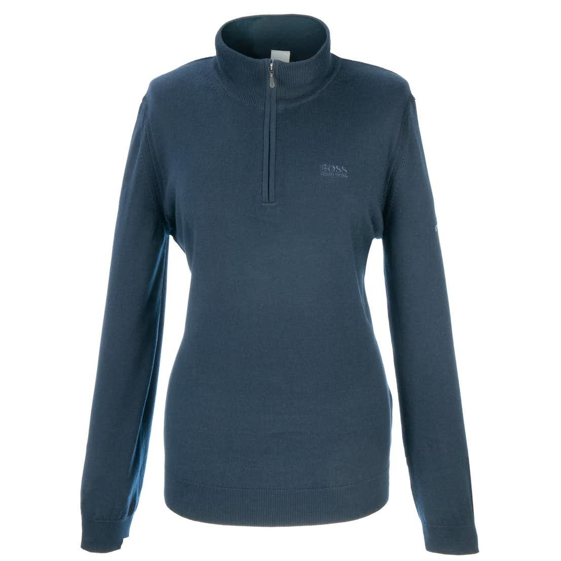 148th Royal Portrush BOSS 1/4-Zip Knitted Sweater - Blue