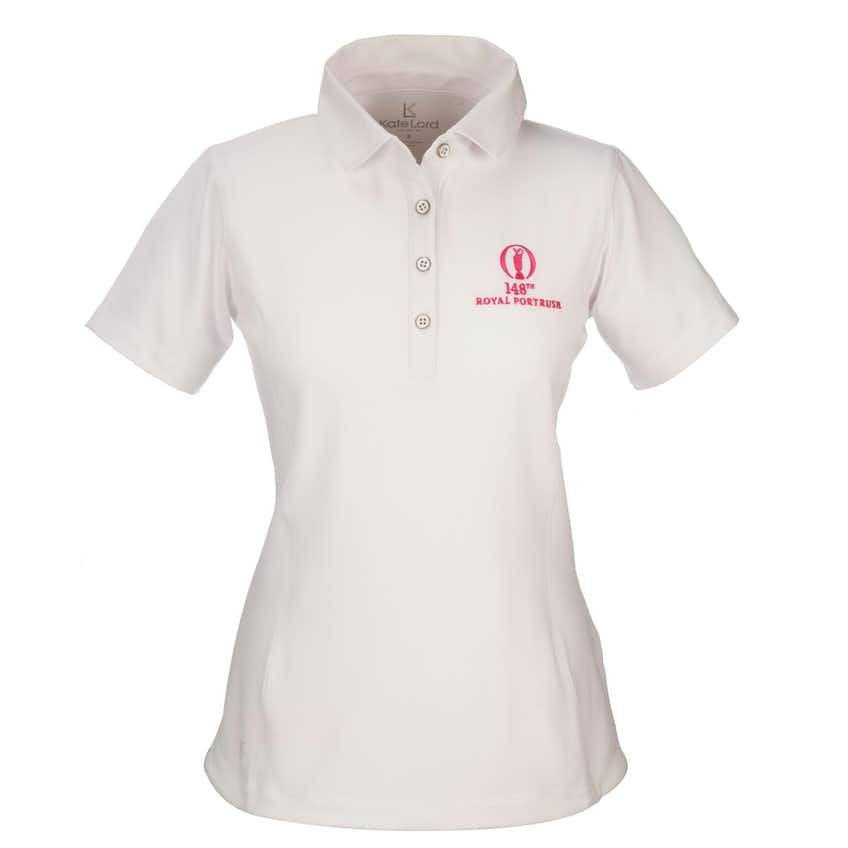148th Royal Portrush Plain Polo - White