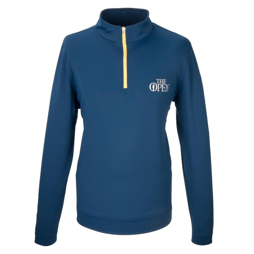 The Open 1/4-Zip Sweater - Blue