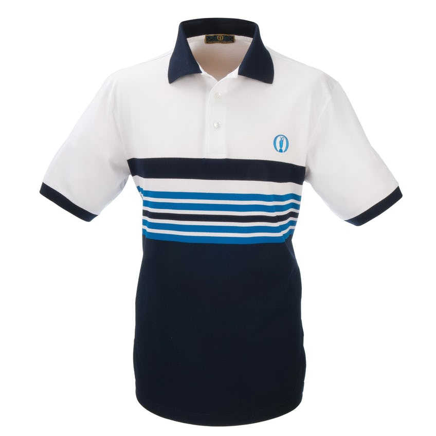 Tartan Collection Striped Polo - Blue and White 0