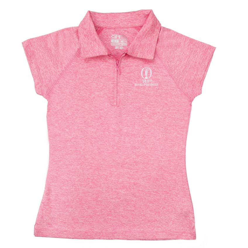 148th Royal Portrush Children's Plain Polo - Pink