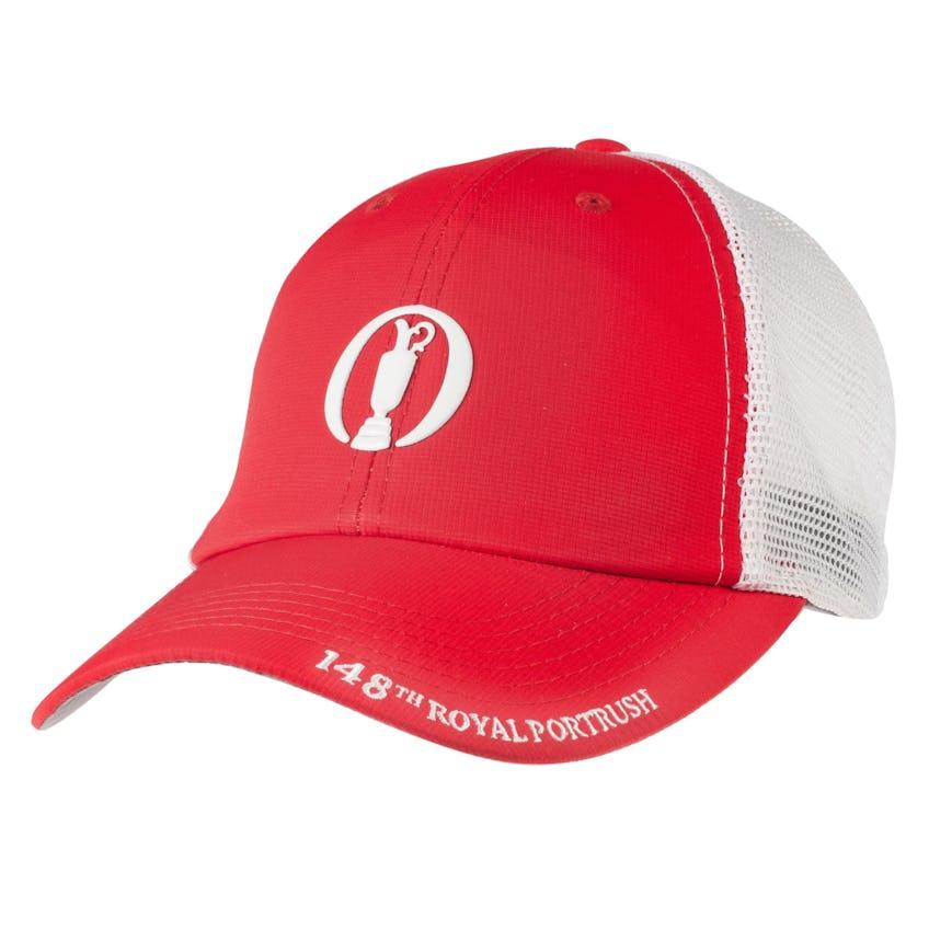 148th Royal Portrush Baseball Cap - Red and White 0