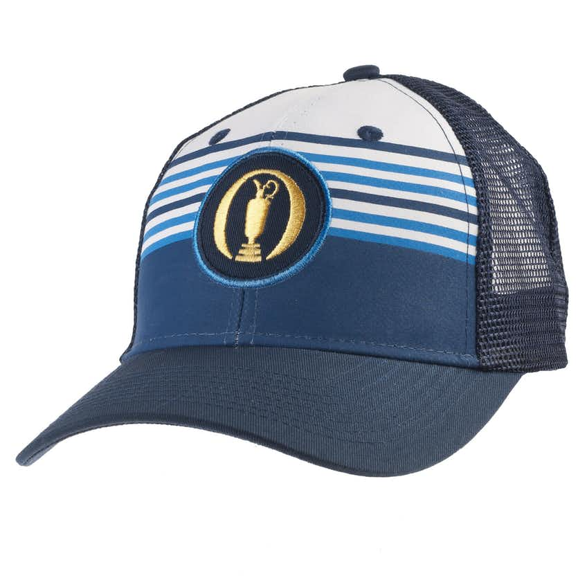 The Open Baseball Cap - Blue and White