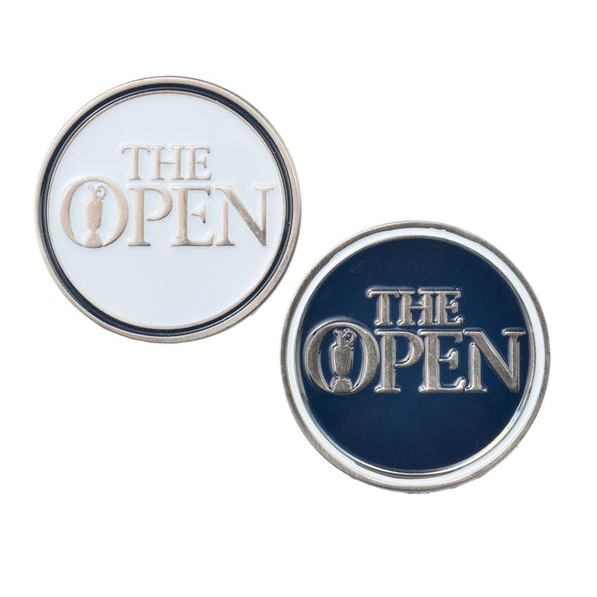 The Open Two-Sided Ball Marker - Blue and White