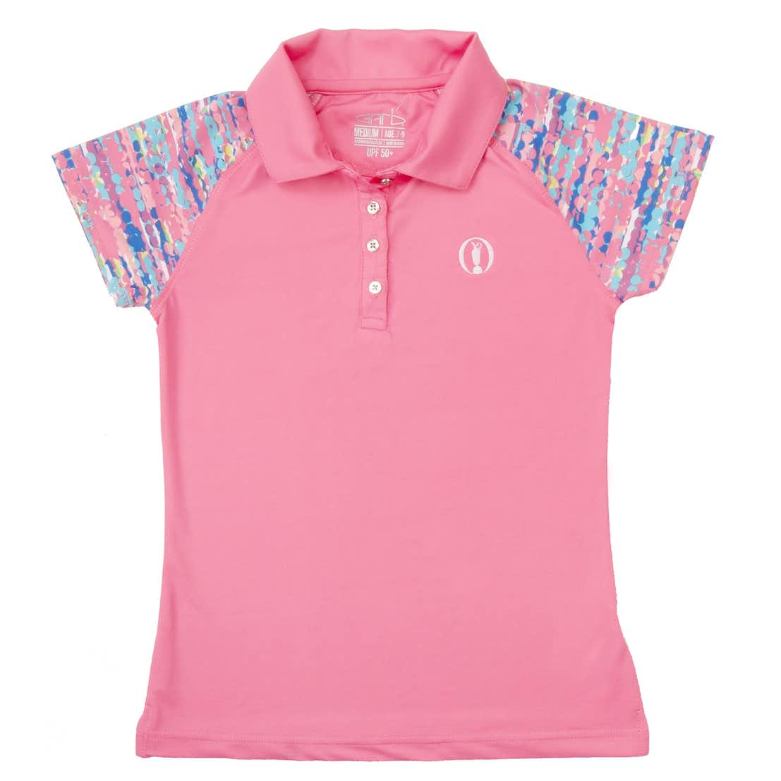 The Open Children's Plain Polo - Pink