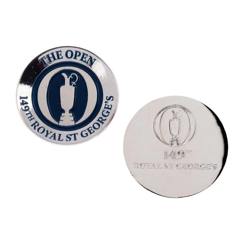 149th Royal St George's Two-Sided Concave Ball Marker - Blue