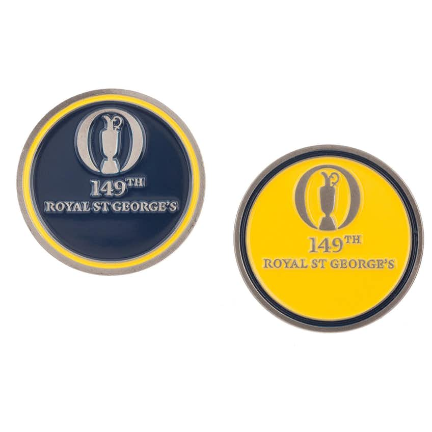 149th Royal St George's Two-Sided Ball Marker - Blue