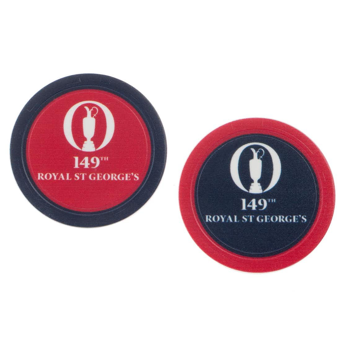 149th Royal St George's Collector's Coin - Blue and Red