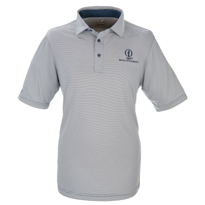 149th Royal St George's Striped Polo - Blue and White 0