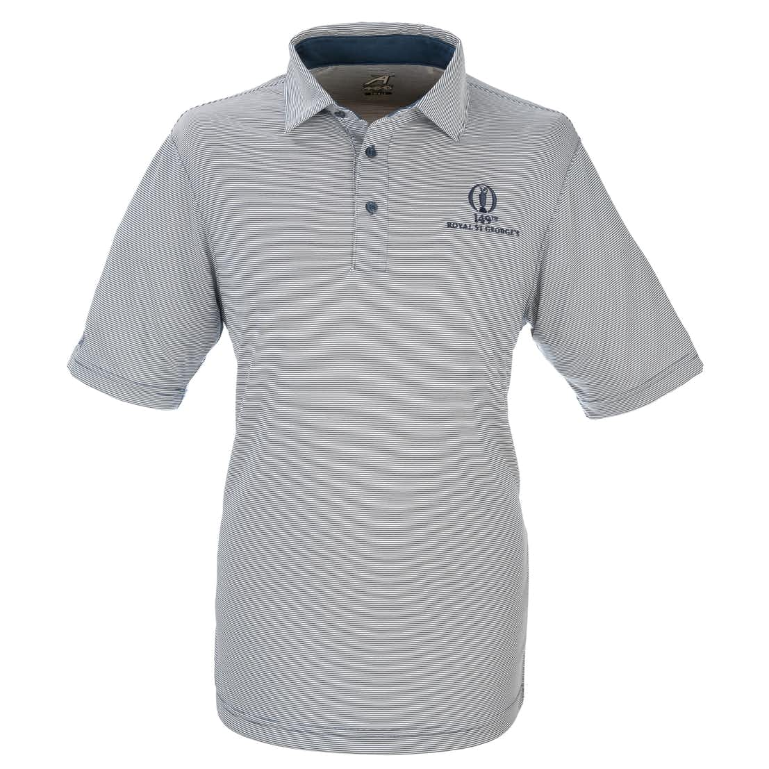 149th Royal St George's Striped Polo - Blue and White