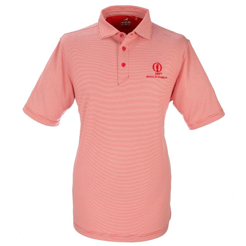 149th Royal St George's Striped Polo - Red