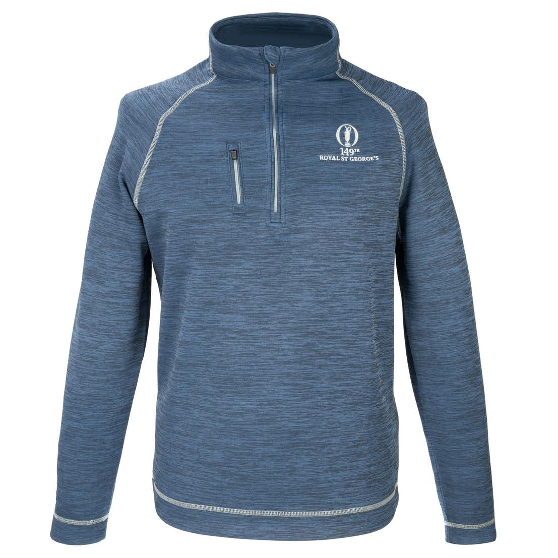149th Royal St George's 1/4-Zip Layer Sweater - Blue