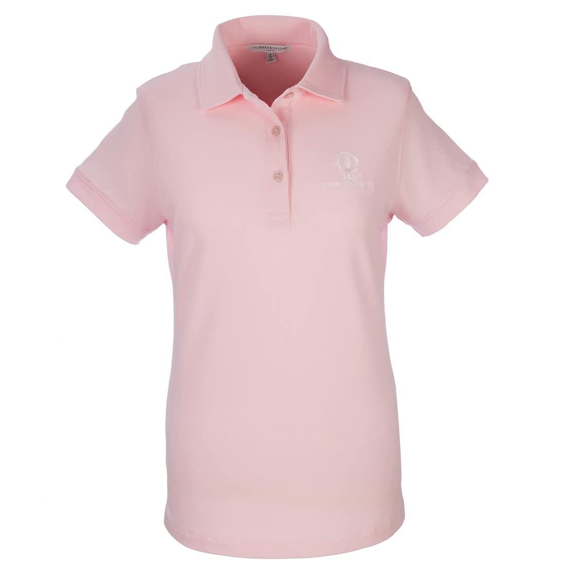 149th Royal St George's Fairway & Greene Plain Polo - Pink