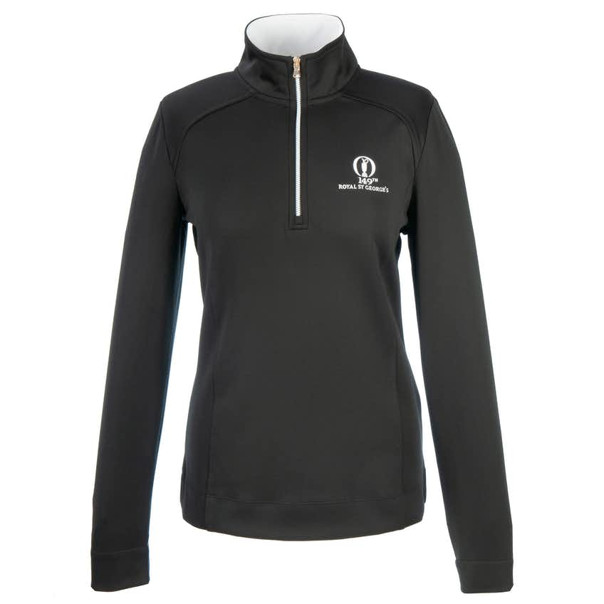 149th Royal St George's Fairway & Greene 1/4-Zip Sweater - Black