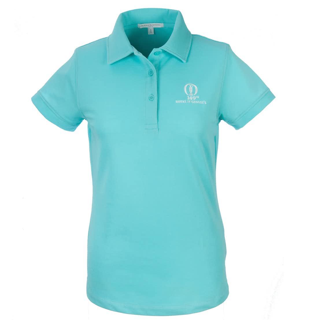149th Royal St George's Fairway & Greene Plain Polo - Blue