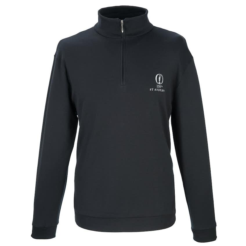 150th St Andrews Marbas 1/4-Zip Layer Sweater - Black