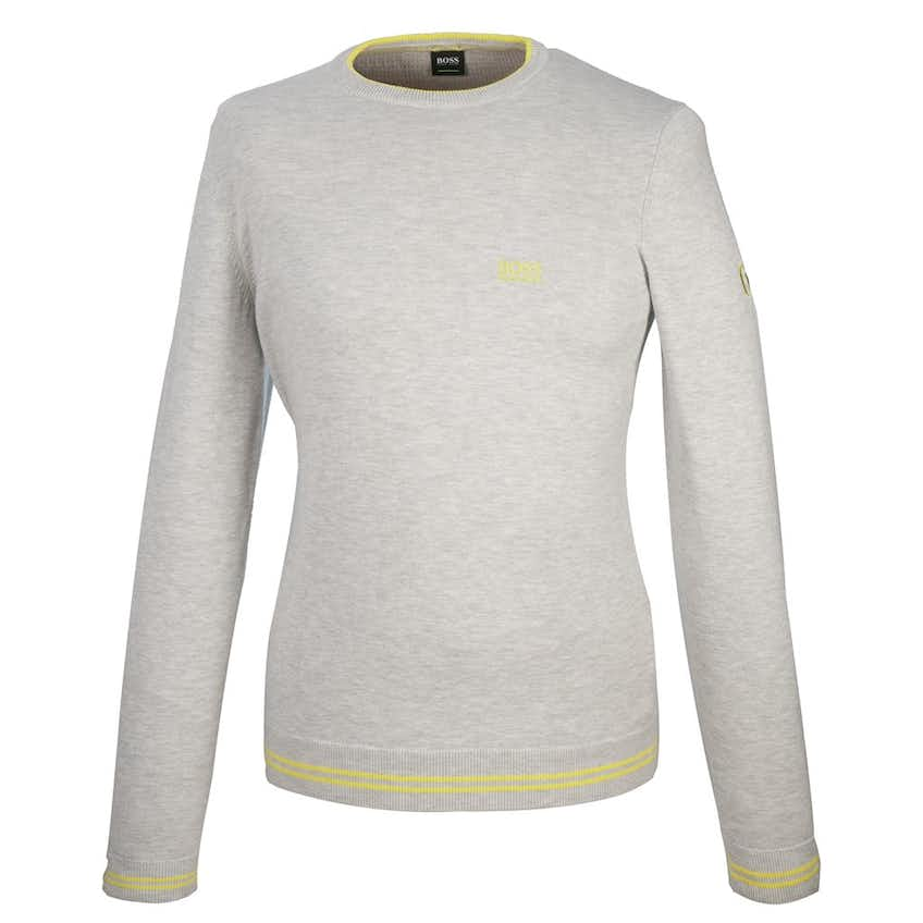 The Open BOSS Crew-Neck Sweater - Grey