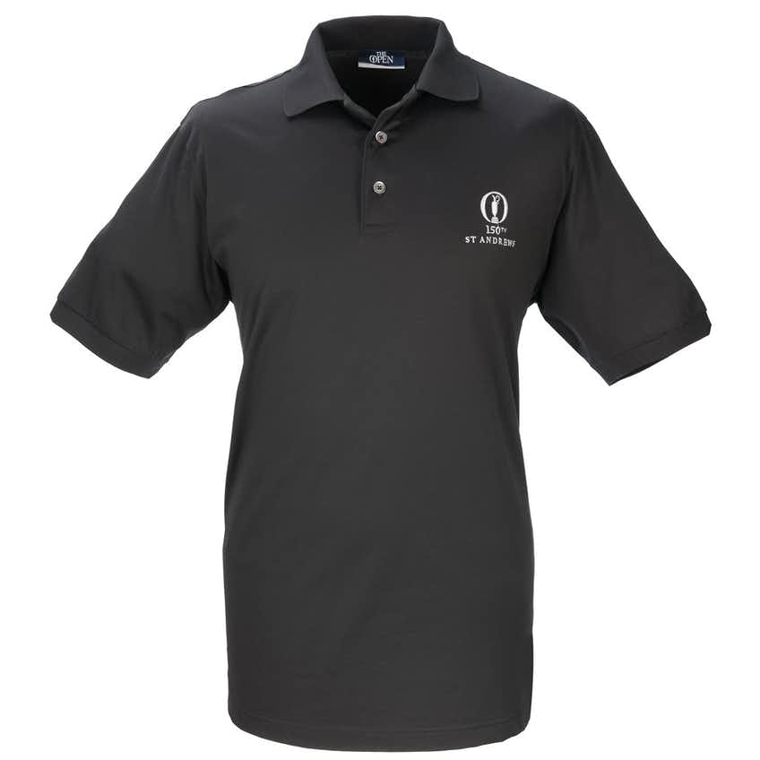 150th St Andrews Marbas Plain Polo - Black