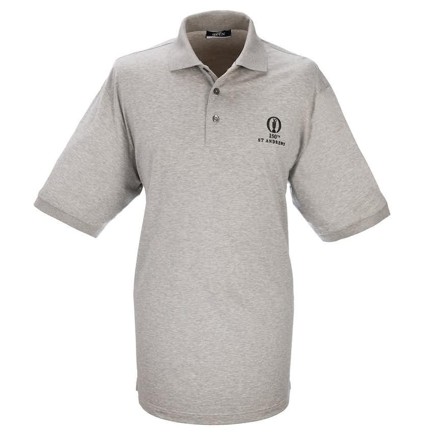 150th St Andrews Marbas Plain Polo - Grey