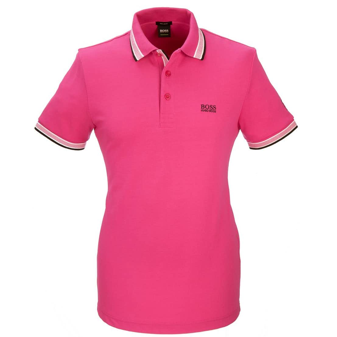 The Open BOSS Paddy Plain Polo - Pink