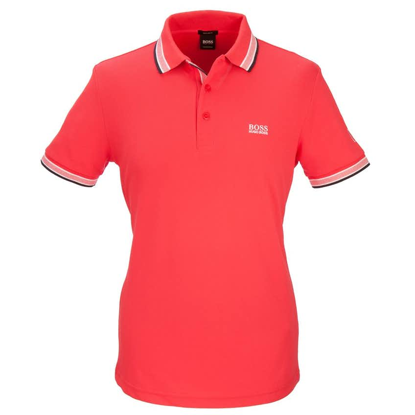 The Open BOSS Paddy Plain Polo - Red
