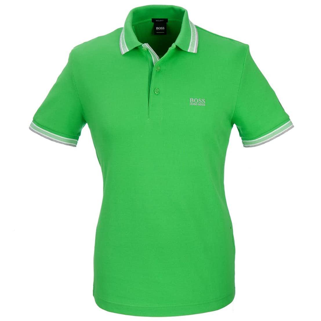The Open BOSS Paddy Plain Polo - Green