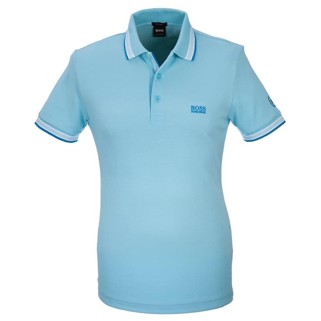 The Open BOSS Paddy Plain Polo - Blue