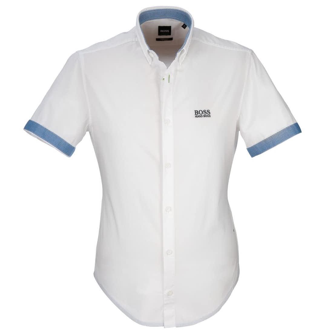 The Open BOSS Short-Sleeve Shirt - White
