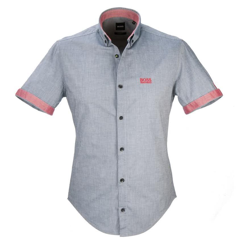 The Open BOSS Short-Sleeve Shirt - Grey