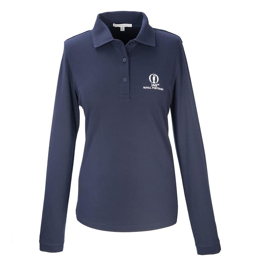 148th Royal Portrush Fairway & Greene Long Sleeve Polo - Blue
