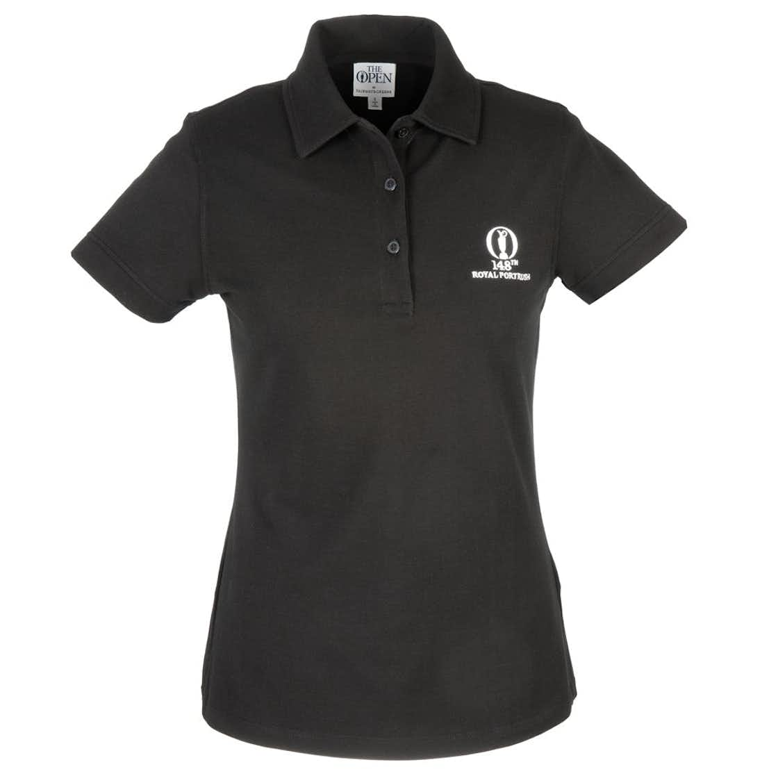 148th Royal Portrush Fairway & Greene Plain Polo - Black