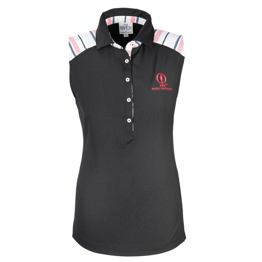 148th Royal Portrush Fairway & Greene Sleeveless Polo - Black