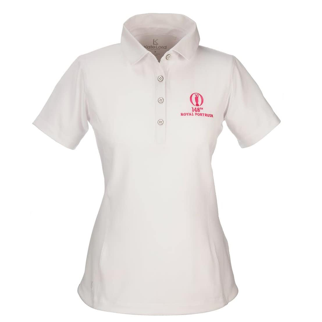 148th Royal Portrush Kate Lord Plain Polo - White