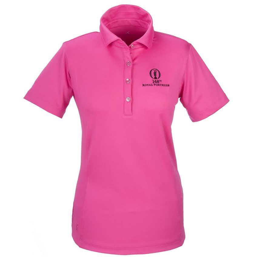 148th Royal Portrush Plain Polo - Pink