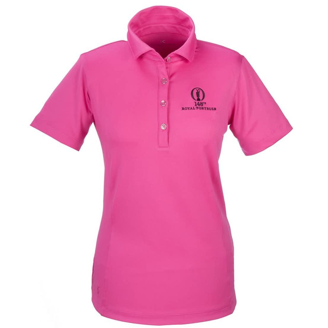 148th Royal Portrush Kate Lord Plain Polo - Pink
