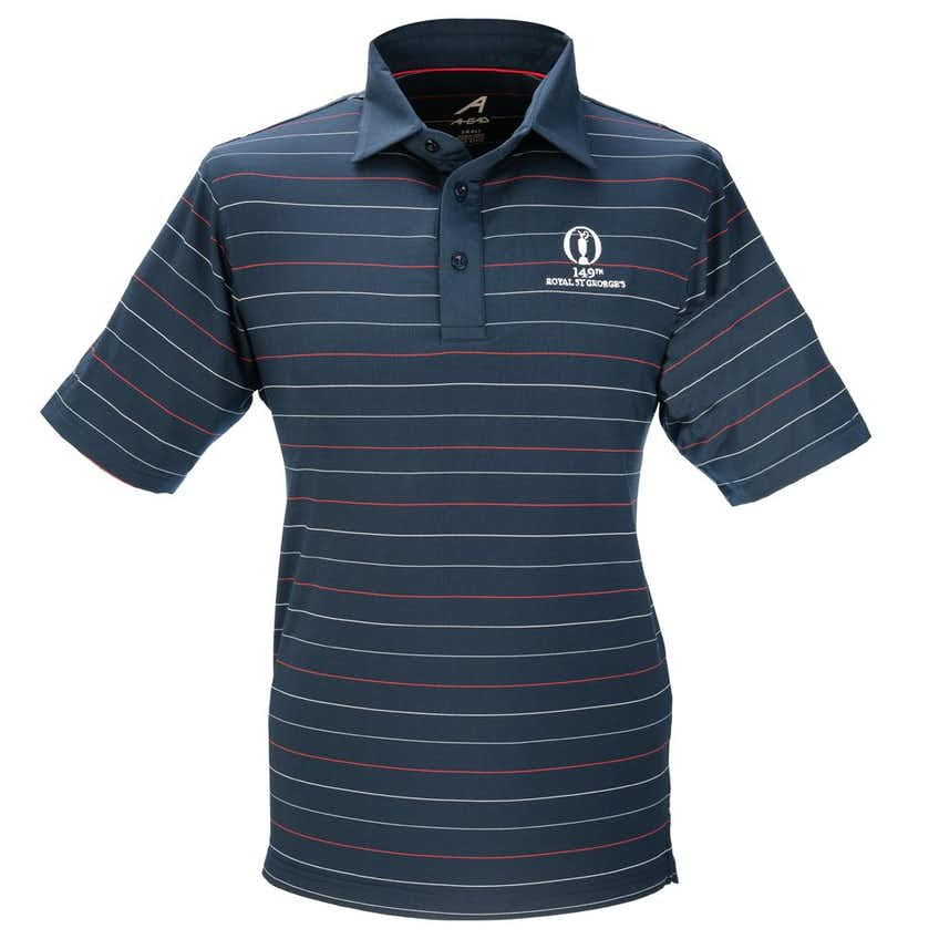 149th Royal St George's Striped Polo - Blue