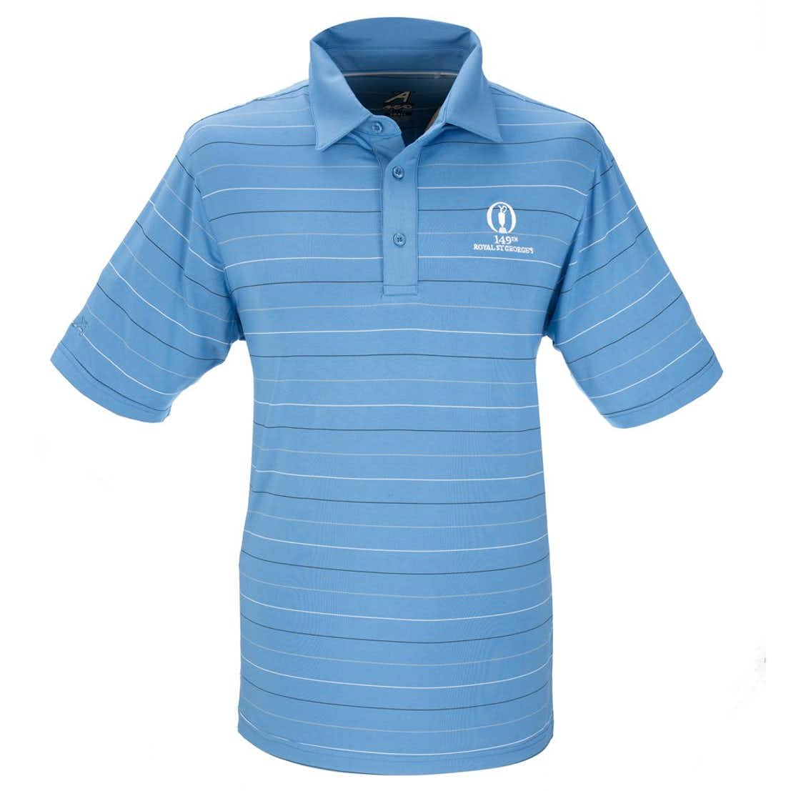 149th Royal St George's Ahead Striped Polo - Blue