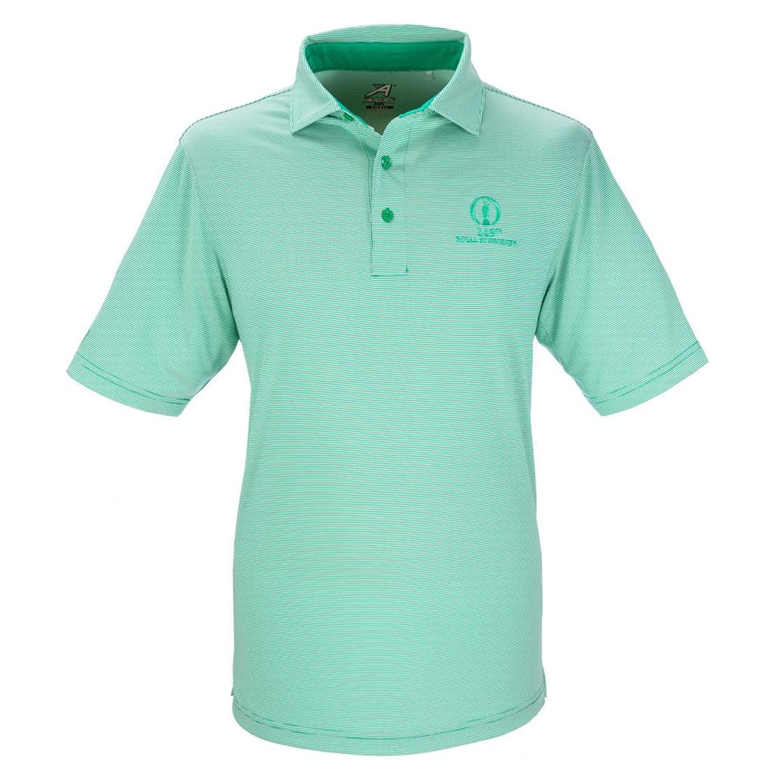149th Royal St George's Ahead Striped Polo - Green