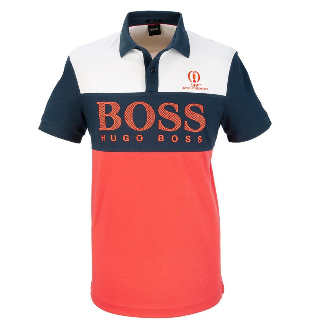 149th Royal St George's BOSS Panel Polo Shirt - Red