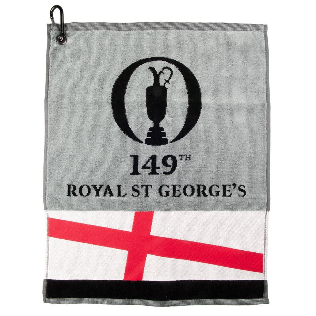 149th Royal St George's Woven Towel with Flag Band - Grey