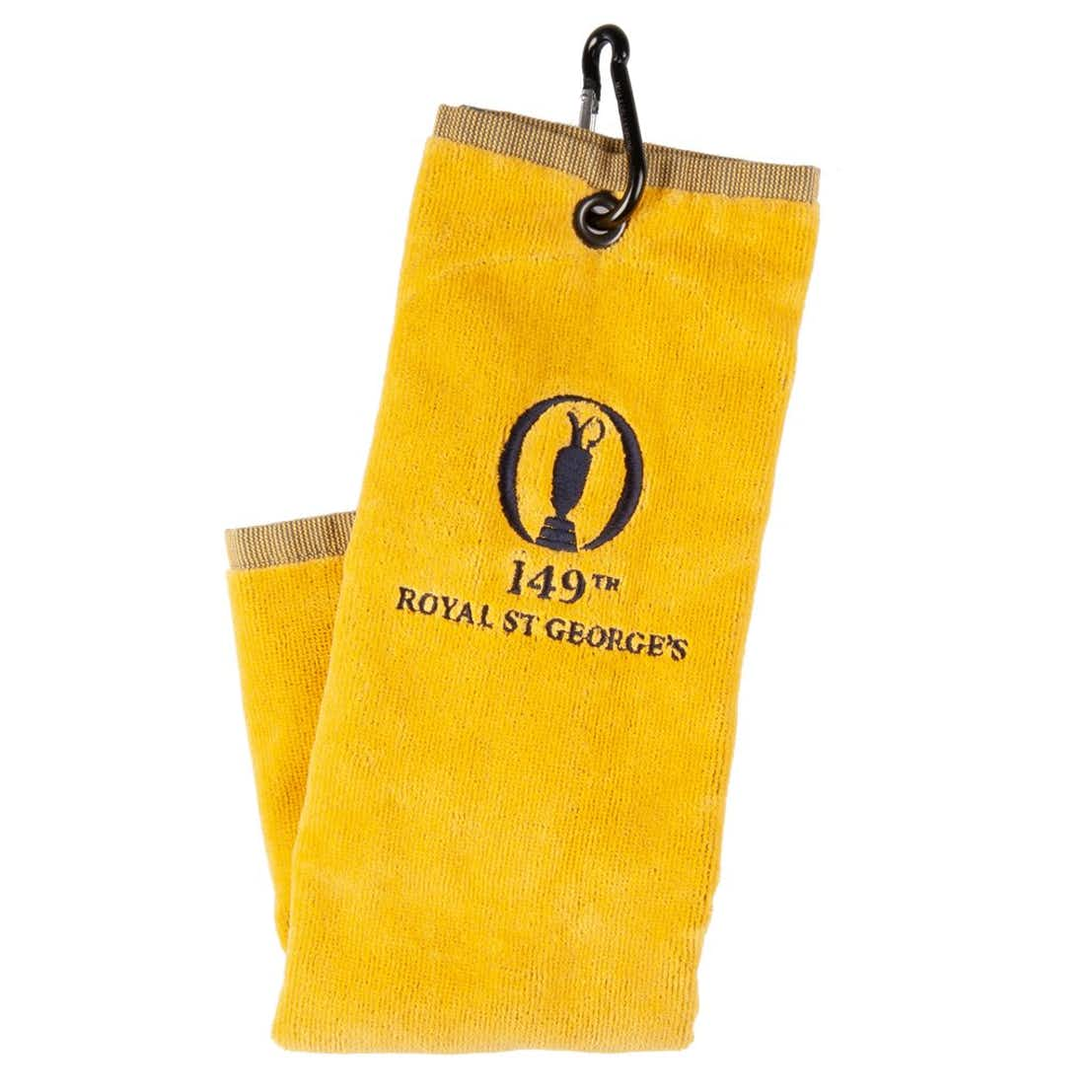 149th Royal St George's Standard Trifold Towel - Yellow