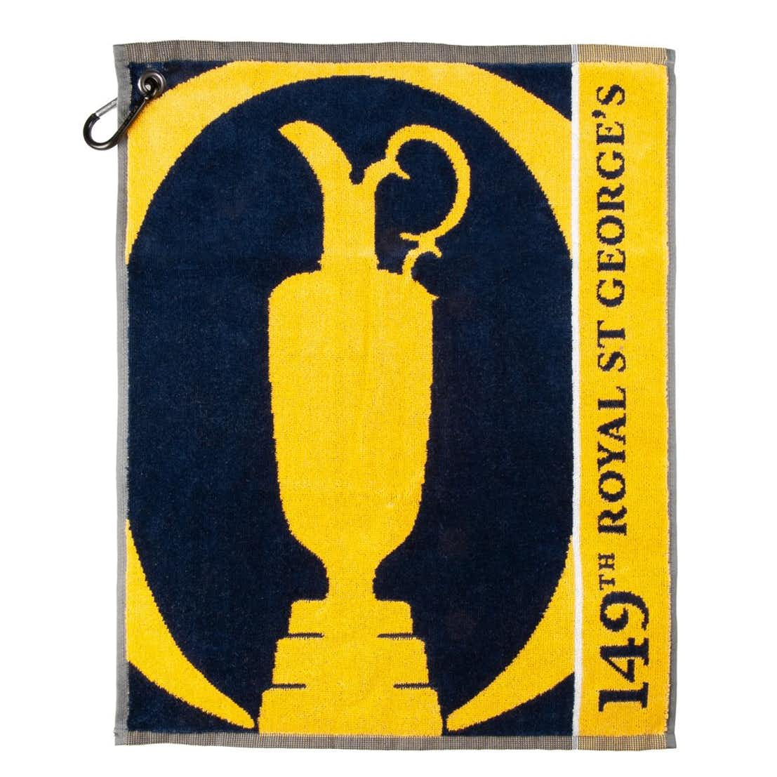 149th Royal St George's Large Symbol Woven Towel - Yellow