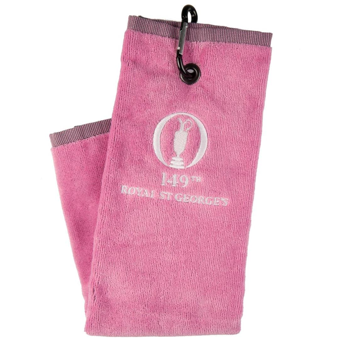 149th Royal St George's Standard Trifold Towel - Pink
