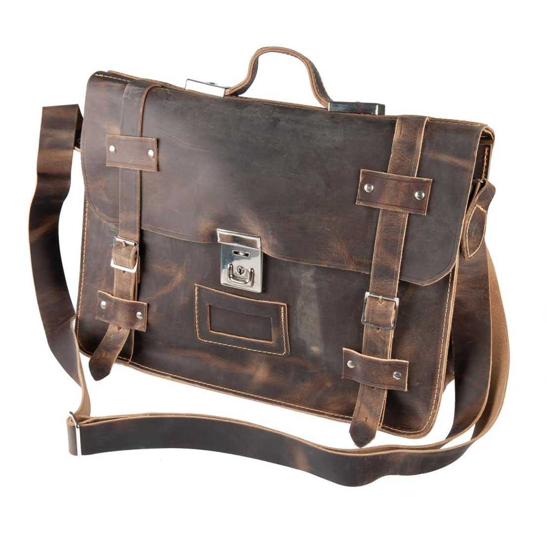 The Open Briefcase - Coffee Brown