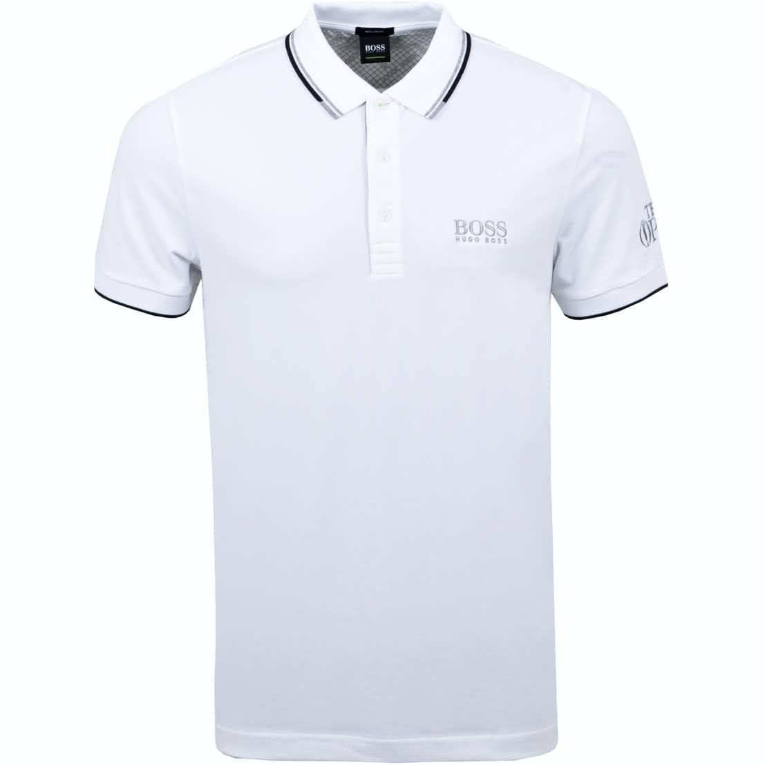 The Open BOSS Plain Polo Shirt - White
