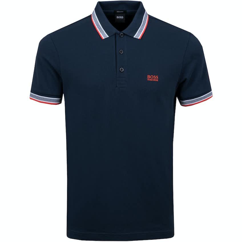 The Open BOSS Plain Polo Shirt - Blue