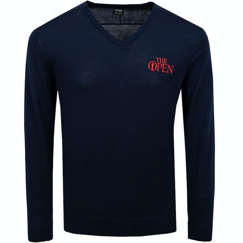 The Open BOSS V-Neck Sweater - Blue