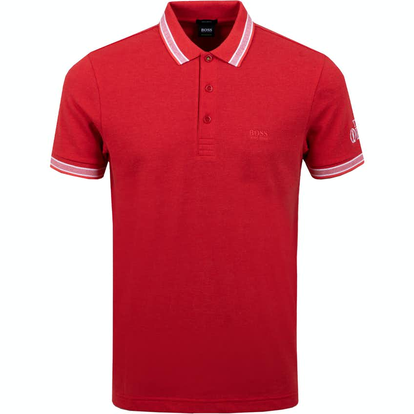 The Open BOSS Plain Polo Shirt - Red